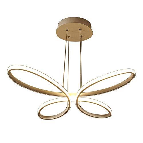 stisch Hängeleuchte Modern Schmetterling Design Pendellampe Kronleuchter Höhenverstellbar Aluminium Leuchte Esszimmer Lampe Wohnzimmer Cafe Hängelampe 54W Ø57CM Natürliches Licht ()