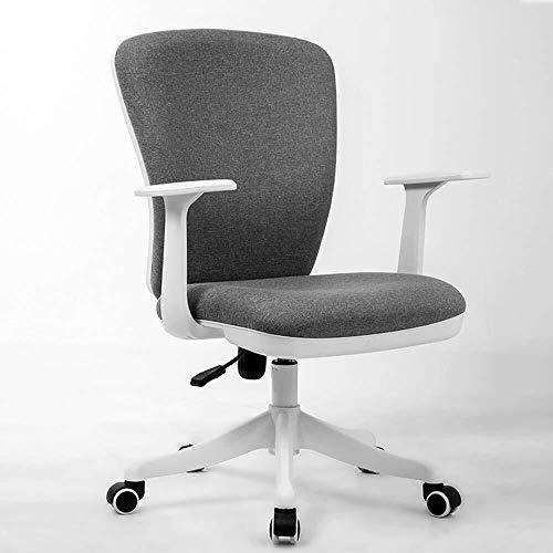 Weiyue Drehstuhl- Bürodrehstuhl, ergonomischer Stuhl, Komfortsitz, höhenverstellbar, Breathable Dicke Kissen, Low Noise Caster (Color : Natural)