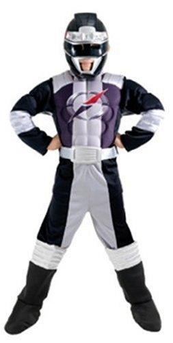 Rubies 883180 - Black Muscle Chest Größe: Large (Black-power-ranger Kostüm Für Kinder)