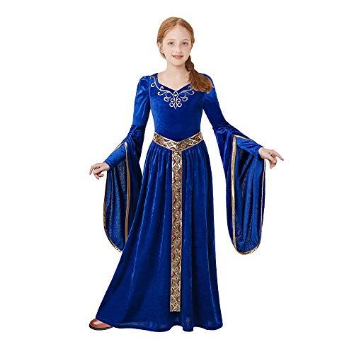 Pettigirl Mädchen Mittelalter Prinzessin Kostüm Renaissance Royalty Kostüm (Ritter Kostüm Kleid)