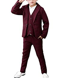 Zhhlinyuan 3 pieces Boys Suits for Weddings Kids Prom Suits Wedding Suits for Boys Children Clothing Set Boy Formal Costume 4127#