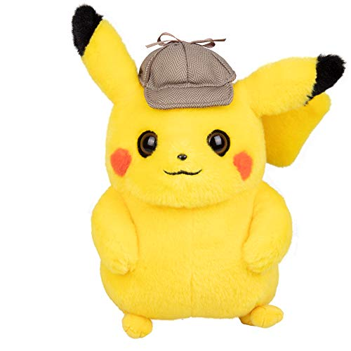 Pokémon Pokemon 97563 Detective Pikachu, Plüsch, 20,3 cm, Mehrfarbig (Pokemon Pikachu Plüschtier)