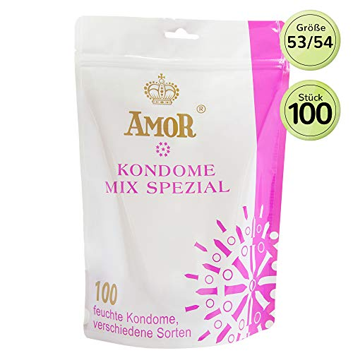 """AMOR\""""Mix Spezial\"""" 100er Pack Markenkondome, für pures Gefühl, hauchzart und extra feucht"""