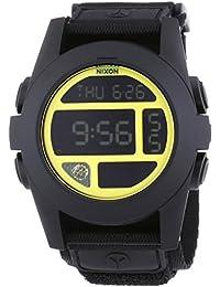 Nixon  - Reloj Digital de Cuarzo unisex, correa de Tela color Negro