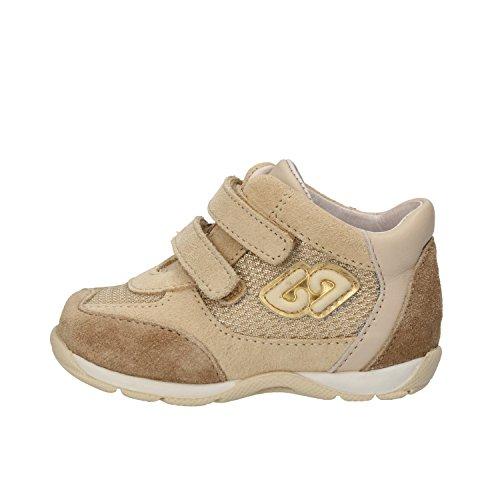 BALDUCCI sneakers bambina beige camoscio tessuto AG932 (18 EU)