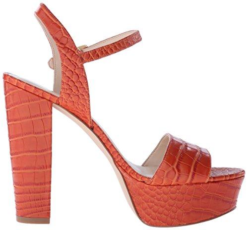 Nine West Nwcarnation - Sandale per damen Red/Orange Croco Texture Leather