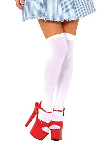 Avenue Leg Kostüm Dorothy - Leg Avenue - Nylon-Overknees weiß - One Size