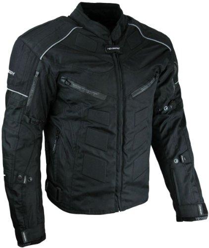 *Kurze Textil Motorrad Jacke Motorradjacke Schwarz Gr. L*