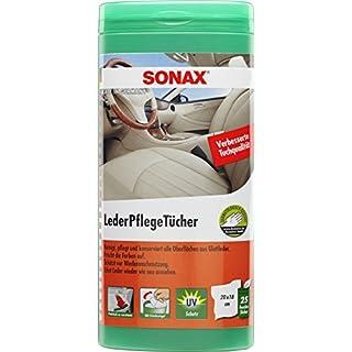 SONAX 412300 LederPflegeTücher Box (enthält 25 Tücher)