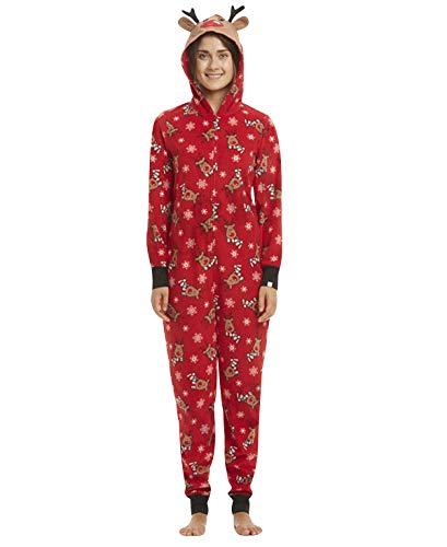 Weihnachts Schlafanzug Familie Einteiler Onesie Weihnachten Pyjama Damen Weihnachts Schlafanzüge Herren Kinder Jungen Mädchen Baby Weihnachtspyjama Jumpsuit Nachtwäsche Erwachsene Männer Winter S