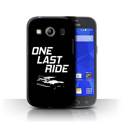 Stuff4 Custodia/Cover/Caso/Cassa Rigide/Prottetiva Stampata con Il Disegno Corse Automobilistiche Strada per Samsung Galaxy Ace 4/G357 - One Last Ride