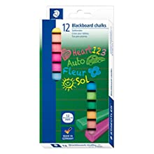 Staedtler (2360) - 12mm Thick Coloured Blackboard Chalks - Pack of 12 Assorted Colours