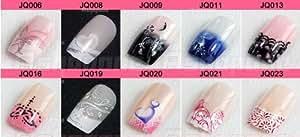 24 Faux ongles à coller Manucure livrés avec la colle couleur au choix Nail Art