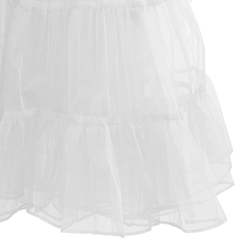 Blesiya Retro 50er Ballettrock Krinoline Petticoat Tutu Rock - Weiß, L