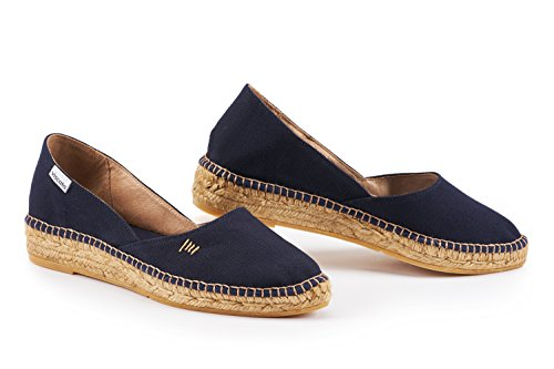 VISCATA Barcelona Damen Espadrilles, Blau - Navy - Größe: 35,5 EU (Blaue Strap Wedge Ankle)
