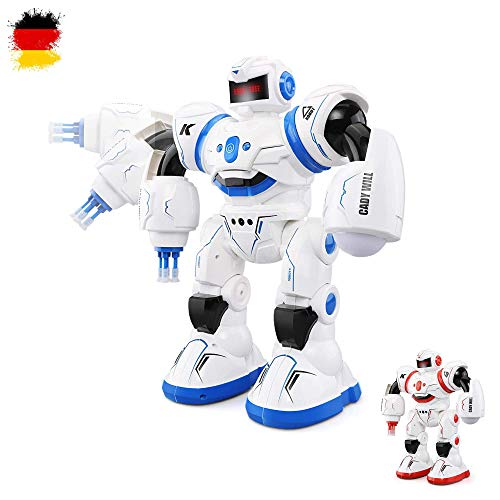 HSP Himoto Neuheit RC Ferngesteuerter programmierbarer Roboter mit Tanz- und Schussfunktion, Sound- und Musikfunktionen, Steuerung per Handbewegung und vieles mehr, NEU OVP