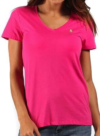 ralph lauren damen t shirt mit v ausschnitt fuchsia pink. Black Bedroom Furniture Sets. Home Design Ideas