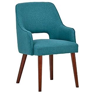 Rivet Whidbey Esszimmer-Akzent-Stuhl mit offener Rückenlehne im Stil der 1950er Jahre, B 59cm, Aqua