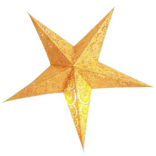 Stella Di Natale A 5 Punte.Brubaker Stella Di Natale Stella Di Carta Con 5 Punte Arancione