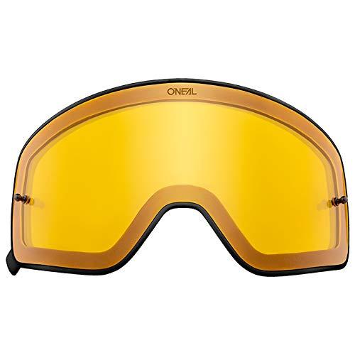 O'Neal Ersatz Magnet Scheibe B-50 Schwarz Goggle Anti Beschlag Polycarbonat MX Kratzfest Brille, 6020-9, Farbe Gelb - Ersatz-magnet