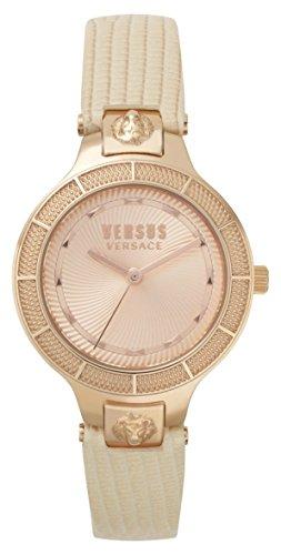 Versus by Versace Femme Analogique Quartz Montre avec Bracelet en Cuir VSP480318
