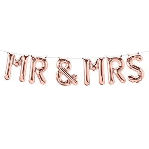 "Buchstabenballon-Set ""Mr + Mrs"""