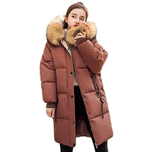 Piumino giacca con Collo in Pelliccia e Cappuccio donna