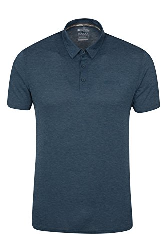 Mountain Warehouse Volley Merino Herren-Poloshirt Petrolblau