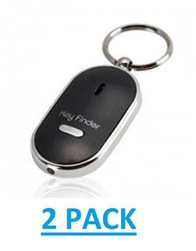✹ Pfeifender Schlüsselfinder ✹ mit LED Taschenlampe ✹ an-/Ausschalter ✹ Free P & P ✹ schwarz