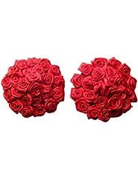 Czj-Innovation Damen Pasties Rose Design Wiederverwendbar Nippel-Aufkleber