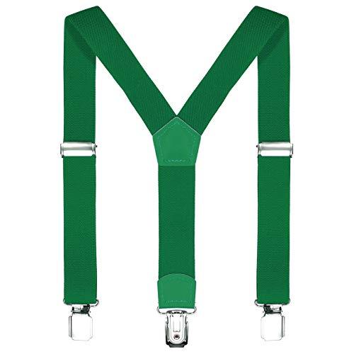 DonDon niños tirantes verde 2 cm estrecho longitud