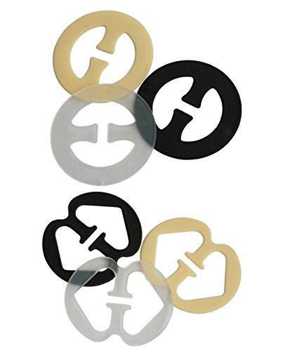 5par (10pcs) sujetador correa Clips–Control de ocultar sujetador correas de hombro escote color mezclado ajustable hebilla para las mujeres y las niñas (color al azar)