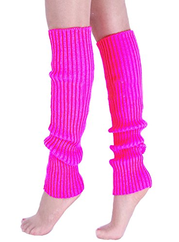 A&Z Super Warme Damen Frauen Beinstulpen Stricken Stiefel Manschetten Socken Leg Knit Stulpen Warmers Socks Cuffs Knie 10 Farben (Rose Red) (Acryl-leg Warmers)