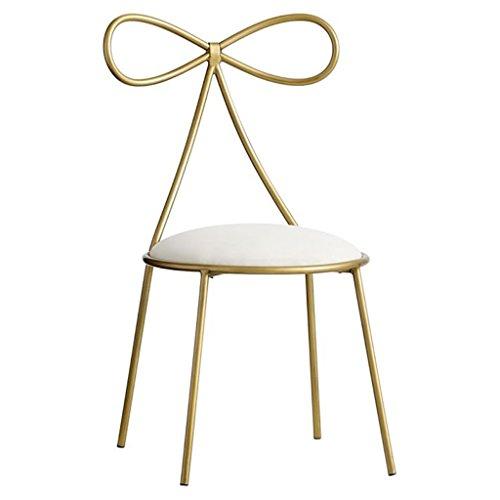 Defeng Nordic Fashion schmiedeeisen Bogen Prinzessin mädchen Herz kommode Stuhl Single zurück modernen minimalistischen nordischen Dressing hocker - Herz-zurück-stuhl