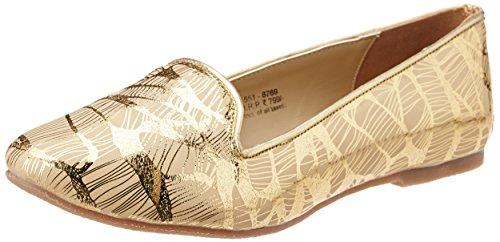 Footin Women's Beige and Yellow Ballet Flats - 4 UK/India...