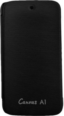 Flip Cover Case For Micromax Canvas A1 with Android One - Black