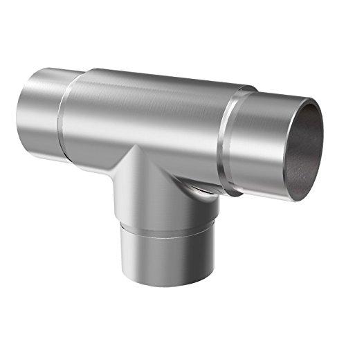Raccord en T pour tuyau Ø 42,4 x 2,0 mm V2A en acier inoxydable 0307.242
