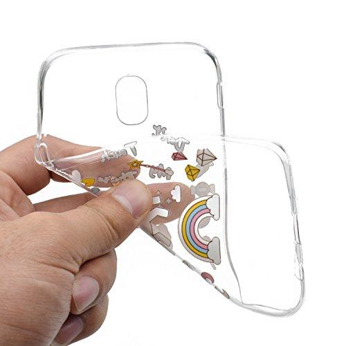 3 x Coque pour Samsung Galaxy J5 2017, Vandot Case Souple Housse Silicone Transparent en TPU Flexible Mince Etui Ultra Souple pour Samsung Galaxy J5 2017 J530 Anti-choc Anti-scratch Cover Ultra-mince  YJXL-04