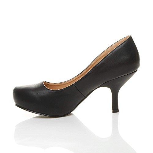 Ajvani, Scarpe col tacco donna Nero (nero)