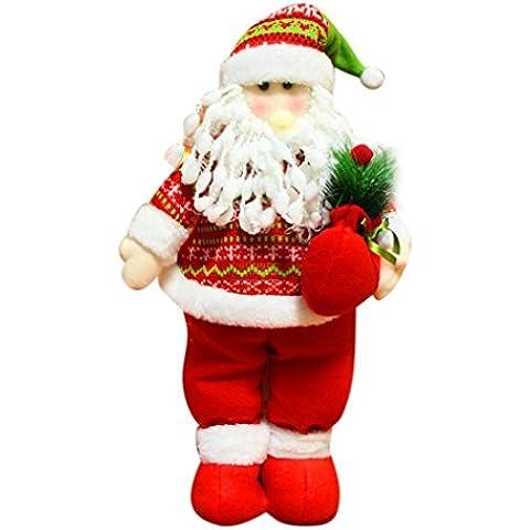 Juguete Del Bebé, Oyedens Navidad Santa Claus muñeco de nieve Toy muñeca telescópica muñeca elástica ornamento (Rojo)