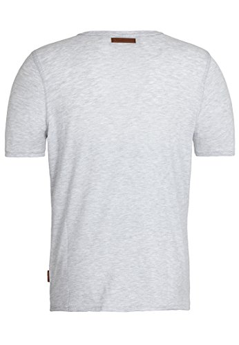 Naketano Male T-Shirt Gelinde Gesagt IV Amazing grey melange