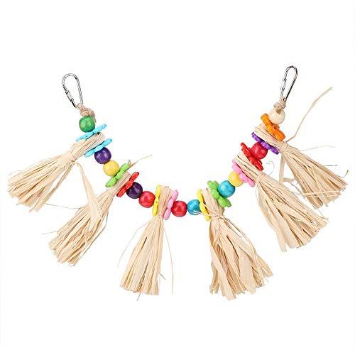 Altalena giocattolo da masticare per pappagallo, arcobaleno, colorato, con perline acriliche colorate, per uccellini da arrampicata, per arte, cacatua, pappagallini, parrocchetti, calopsitte
