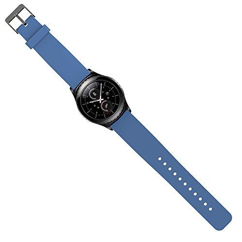 Preisvergleich Produktbild Samsung Gear S2 Classic Armband Uhrband Uhrenarm Band Wrist Strap , in Hellblau OKCS®