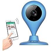 Wireless Kamera, miSafes 360° Mi-Cam Baby Smart IP Kamera Haustiere Home Video Monitor Mini WiFi Überwachungskamera für iPhone iOS Android Samsung (720p HD) Blau