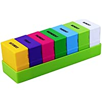 OUNONA 7-Tage-28-Fächer, wöchentliche Aufbewahrungsbox für Tabletten (grün) preisvergleich bei billige-tabletten.eu