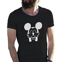 Mickey Mouse Swag Trippy Disney Dope Fuck Camiseta para hombre