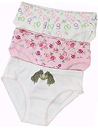 3/6/9x Marken Unterhose für Mädchen Slip Unterwäsche Kinder 98 104 116 128 140 152 164 176