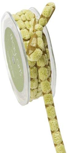 May Arts 3/8-Inch Wide Ribbon, Sage Green Chenille Dots by May Arts -
