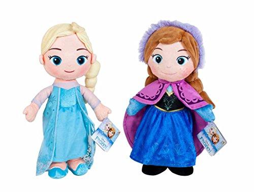 Play by Play - Peluche de la película Frozen - Elsa & Anna 30 cm (Dis