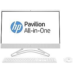 "HP 24-f0015ns - All in One - Ordenador sobremesa 23.8"" FullHD (Intel Core i3-8130U, 8GB RAM, 256GB SSD, Intel Graphics, Sin sistema operativo), color blanco con teclado QWERTY Español y ratón"